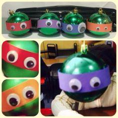 Ninja Turtles Christmas ornaments