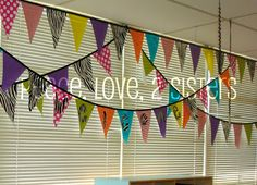 Peace, Love, 2 Sisters: Show and Tell Monday- DIY Pennant String