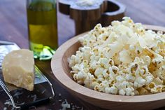 Popcorn with Parmesan & Truffle Oil.