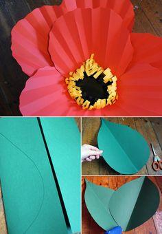 DIY big paper flowers