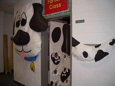Dalmation dog classroom door decoration