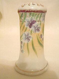 Hand Painted Hat Pin Holder Violets