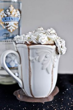 Grown Up Hot Chocolate with Homemade Baileys Marshmallows.