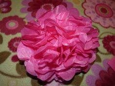 Tissue Paper Flowers are a popular craft in Mexico, and they are super easy to make!