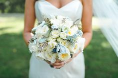 neutral wedding bouquet, photo by Mallory and Justin Photographers http://ruffledblog.com/glam-wedding-in-a-cleveland-warehouse #weddingbouquet #flowers #bouquets