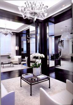 I'm craving this room. #black and #white interior design
