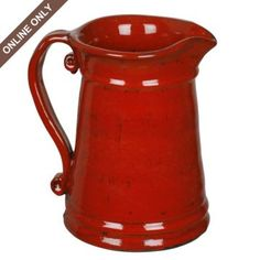 Red Ceramic Pitcher