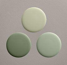 Current Paint Colors: Sycamore Green (lightest color), Bay Laurel (middle colour)
