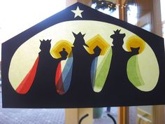 king transpar, silhouettes, windows, three king, paper crafts