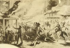 #QR1863 Illustration of Quantrill's attack on Lawrence, Kansas, August 21, 1863