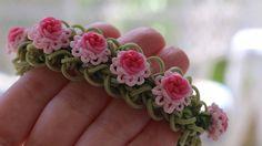 Ruffles and Roses Rainbow Loom Bracelet Tutorial - YarnJourney
