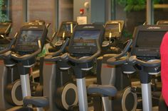 1st floor cardio room- upright bikes
