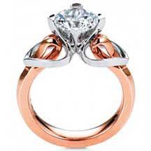 Benari Jewelers pink gold engagement ring