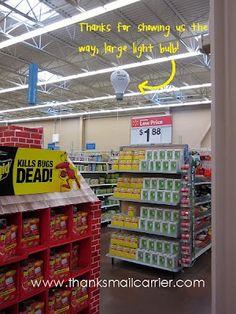 Lighting aisle at Walmart #GELighting