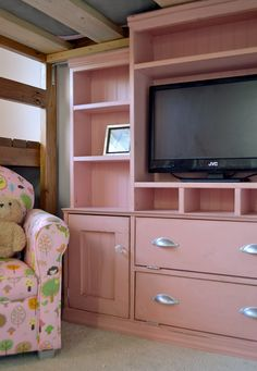 Ana White | Build a Mini Media Wall for Playhouse or Kids Room | Free and Easy DIY Project and Furniture Plans