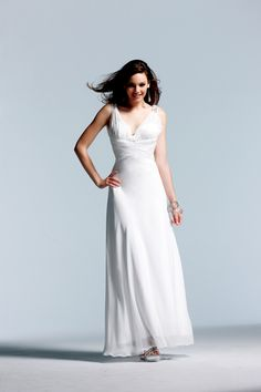 Ivory Beaded Chiffon Prom Gown - Sale $278 (9/5)