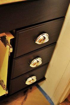 Espresso staining oak cabinets
