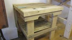 Pallet End Table with shelf Handcrafted in by SeasidePalletDesigns, $95.00