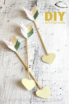 DIY arrows for valentines