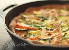 Deep Dish Zucchini and Tomato Pizza