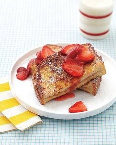 Peanut Butter-Stuffed French Toast with Strawberry Topping Recipe