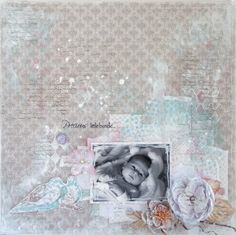 Baby LO - Scrapbook.com - Beautiful soft baby layout.