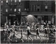 Old New York: kids dancing in the street