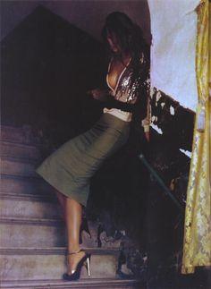 Sequin top & pencil skirt