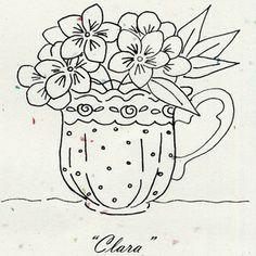 tea time, painting patterns, teacup, flower