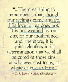 His love is relentless.