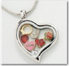 $28.98  Floating Heart Locket Necklace & Chain