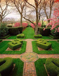 Knot Garden,Gardens at Glen Burnie,Winchester, VA.