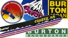 Burton past stickers