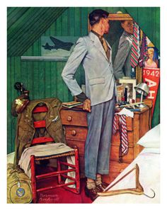Imperfect Fit, December 15,1945 Giclee Print by Norman Rockwell at Art.com
