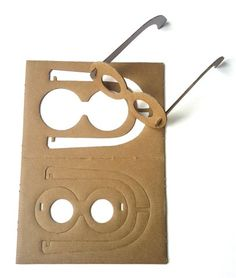 Cardboard glasses to celebrate cardboard toys made in france