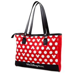 Polka Dot Walt Disney World Minnie Mouse Tote -- Red | Bags & Totes | Disney Store