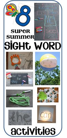 8 super fun ideas for practicing sight words over the summer.