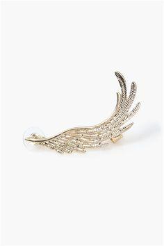 Fly Away Earring Cuff in Gold