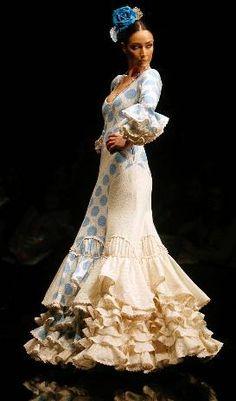 Flamenco white on pinterest for Flamenco style wedding dress