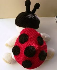 Baby Ladybug outfit for a photography studio