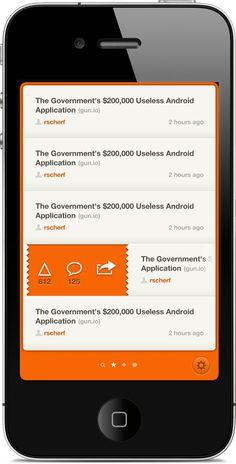 HN Reader App (UI v2) by Ryan Scherf