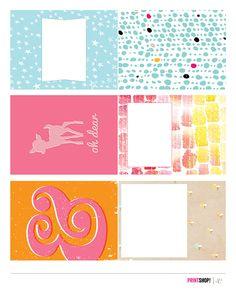 Free Printshop Journal Cards