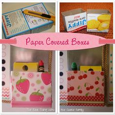 paper covered boxes