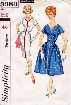 1960s Slim or Full Skirt Mad Men Era Dress by BessieAndMaive, $14.00