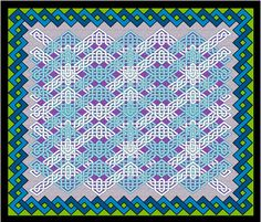 Celtic Zig Zag Cheater Quilt fabric by nezumiworld on Spoonflower - custom fabric. Wonderful quilt for an engineer or other technically-oriented personality.
