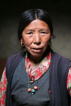 Elderly woman, Nepal.