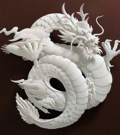 paper craft, 3d paper, dragons, paper art, jeffnishinaka, paperart, papers, paper sculptures, jeff nishinaka