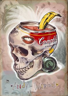 Skulls of famous Artists by Mimi ilnitskaya, via Behance