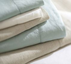 Linen Sheet Set... gets softer and softer with every wash!! #potterybarn