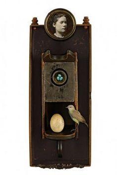 """""""The Bird Watcher"""" by Kass Copeland....#assemblage"""